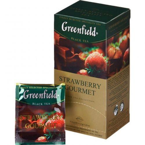 Чай Greenfield Strawberry gourmet черный с клубникой 25 пак